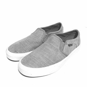 Vans Off the Wall Gray Canvas Slip-On Sneaker 8
